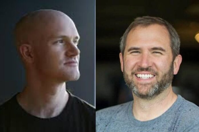 Ripple's Brad Garlinghouse Welcomes Brian Armstrong to the Party as SEC Threatens to Sue Coinbase